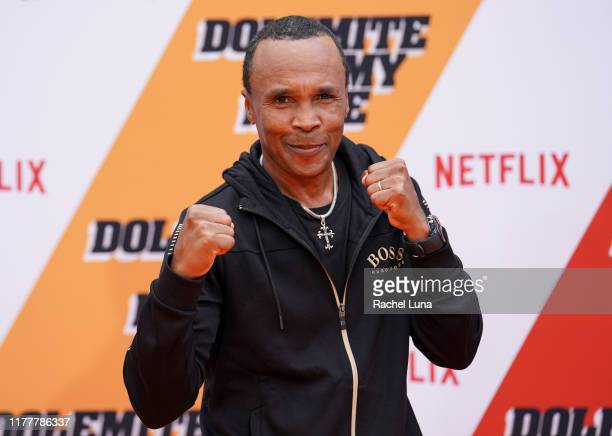 "Sugar Ray Leonard attends the LA premiere of Netflix's ""Dolemite Is My Name"" at Regency Village Theatre on September 28, 2019 in Westwood, California."