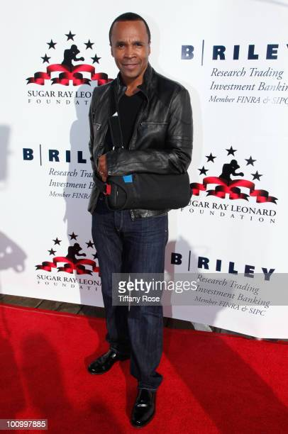 Sugar Ray Leonard attends the Sugar Ray Leonard Foundation's 'Big Fighters Big Cause' charity event at the Santa Monica Pier on May 25 2010 in Santa...