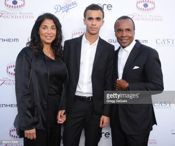 Sugar Ray Leonard Bernadette Robi and son Daniel Ray Leonard arrive at the annual Brent Shapiro Foundation For Alcohol and Drug Prevention Summer...