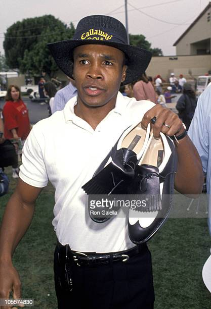 Sugar Ray Leonard during 23rd Annual LA Police Celebrity Golf Tournament at Rancho Park in Rancho Park California United States