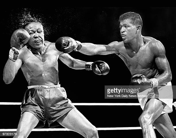 Sugar Ray Robinson crushes Kid Gavilan to retain the welterweight title in 1949. Born in Detroit, Mich., on May 3 Robinson began fighting...