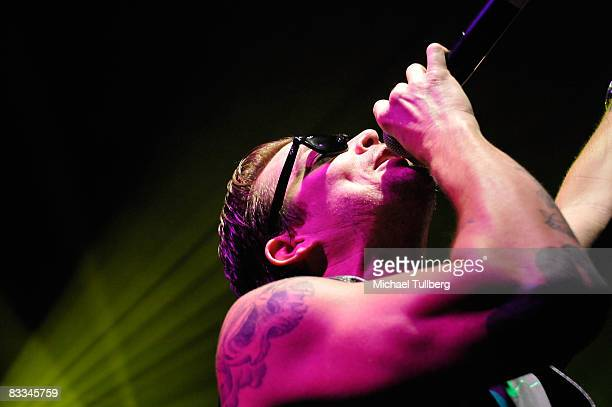 Sugar Ray vocalist Mark McGrath performs with allstar cover band Camp Freddy at the benefit grand opening of celebrity vehicle customization shop...