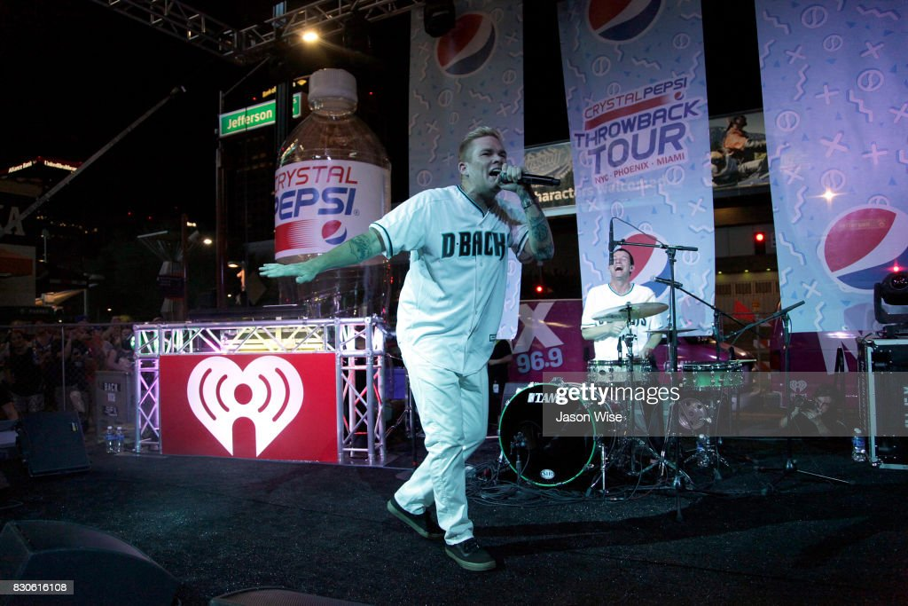 Sugar Ray's Mark McGrath performs at Chase Field on August 11, 2017 in Phoenix, Arizona.