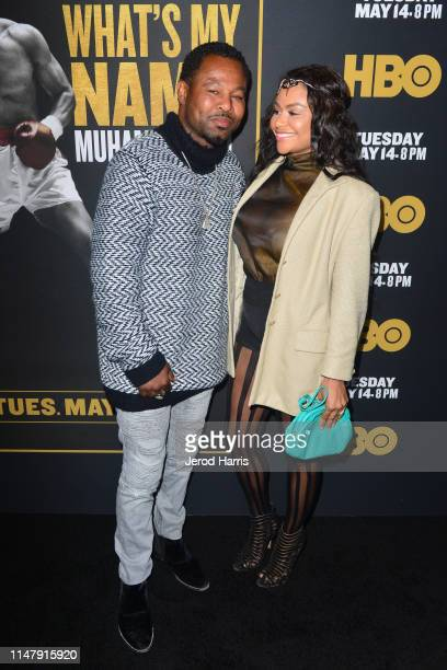 Sugar Shane Mosley and Bella Gonzalez attend Premiere of HBO's 'What's My Name Muhammad Ali' at Regal Cinemas LA LIVE Stadium 14 on May 08 2019 in...