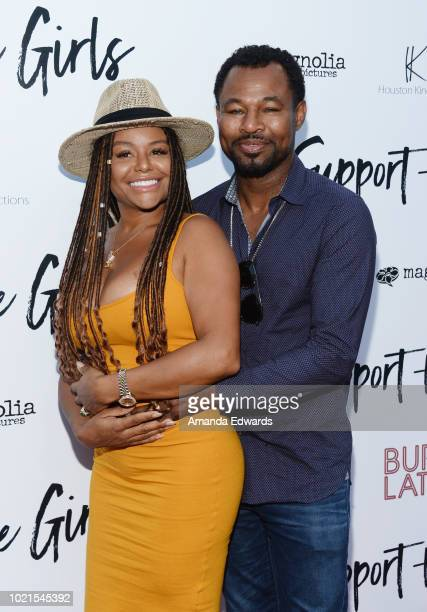 Sugar Shane Mosley and Trista Pisani arrive at the premiere of Magnolia Pictures' Support The Girls at ArcLight Hollywood on August 22 2018 in...