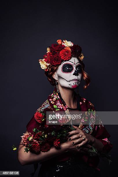 Sugar skull creative make up for halloween