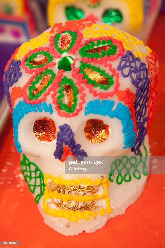 Sugar skull, Oaxaca, Oaxaca Province, Mexico : Foto de stock
