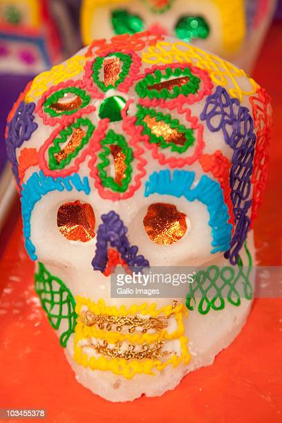 sugar skull, oaxaca, oaxaca province, mexico - sugar skull stock photos and pictures