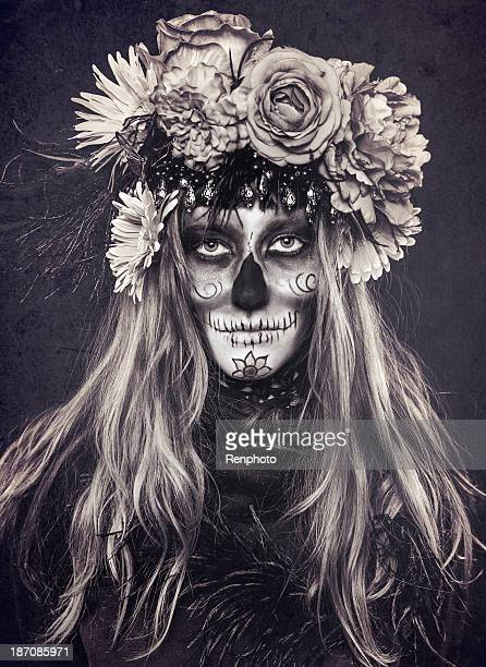 sugar skull - day of the dead stock photos and pictures