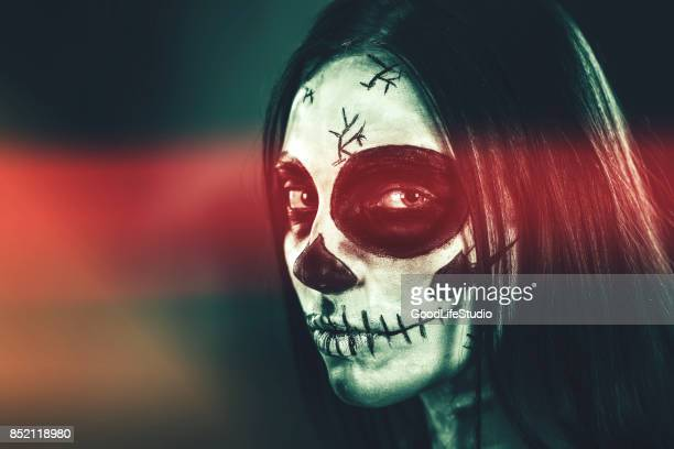 sugar skull - day of the dead stock pictures, royalty-free photos & images