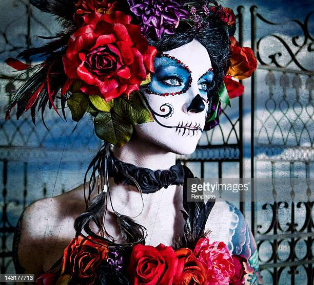 sugar skull series - sugar skull stock photos and pictures
