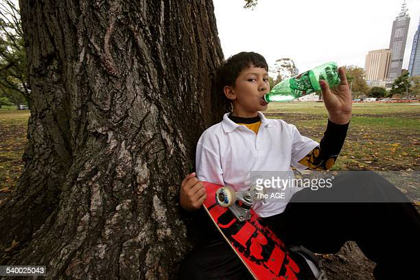 Sugar soft drinks will be banned in state schools in a bid to combat childhood obesity Pictured is Ishaan Casson 8 years old who is allowed soft...