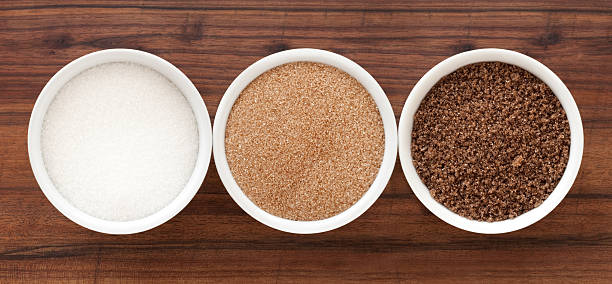 sugar varieties - sugar stock pictures, royalty-free photos & images
