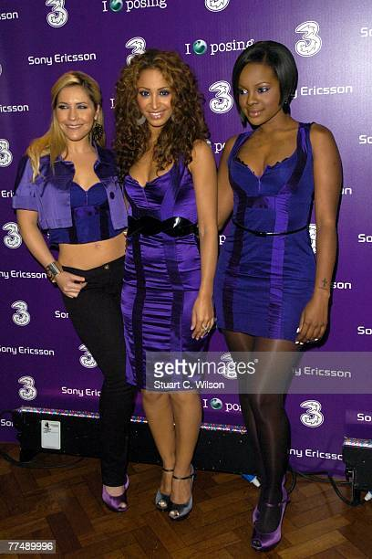 Sugarbabes Heidi Range Amelle Berrabah and Keisha Buchanan attend the 3 Sony Ericsson K770i Phone Launch Party at Victoria House Bloomsbury on...