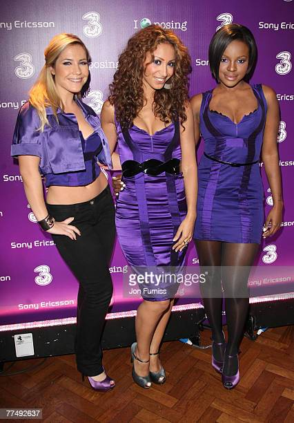 Sugarbabes Heidi Range Amelle Berrabah and Keisha Buchanan attend the Sony Ericsson K770i Phone Launch Party at Victoria House Bloomsbury on October...