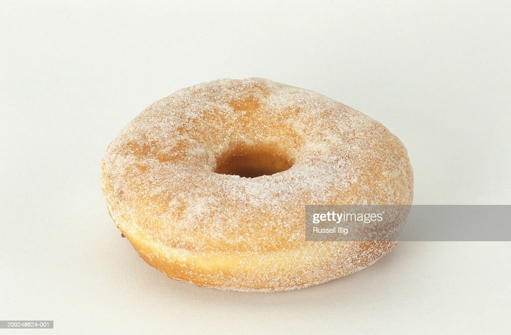 Sugared ring doughnut, (Close-up) : Stock Photo