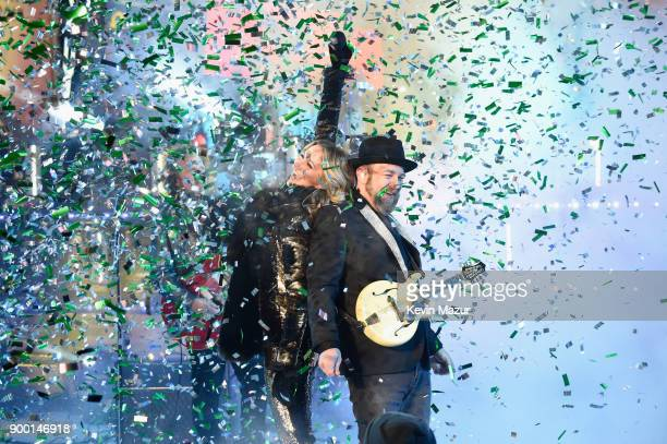 Sugarland performs at the Dick Clark's New Year's Rockin' Eve with Ryan Seacrest 2018 on December 31 2017 in New York City