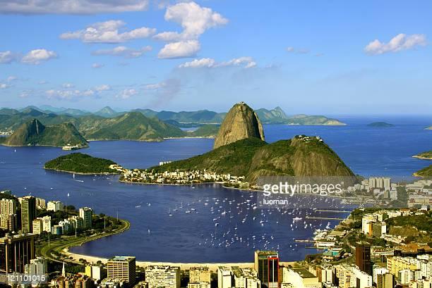 Sugarloaf Rock forma e Baía de Guanabara