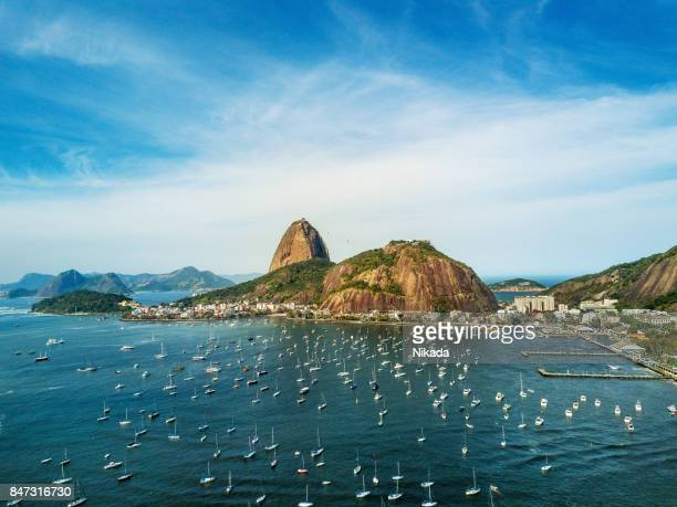 sugarloaf mountain in rio de janeiro, brazil - copacabana beach stock pictures, royalty-free photos & images