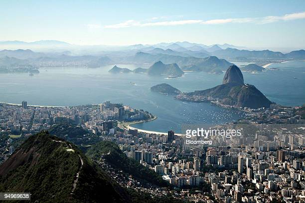 Sugarloaf Mountain stands in Guanabara Bay in Rio de Janeiro Brazil on Friday July 17 2009 Brazil Latin America's biggest economy is rebounding from...