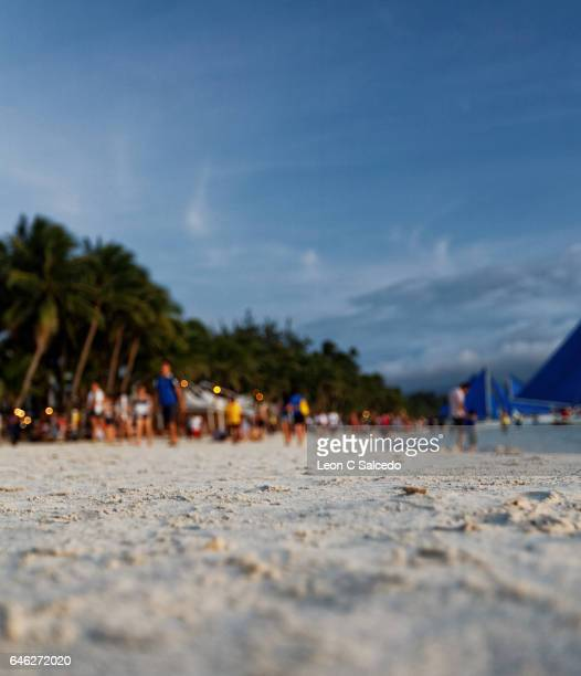 Sugary White Sand on the Beach of Boracay