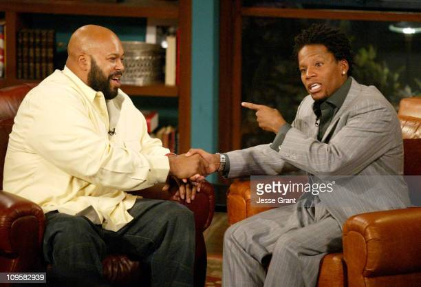 Suge Knight and DL Hughley during Suge Knight Appears on 'The Late Late Show' with Guest Host DL Hughley November 19 2004 at CBS Television City in...