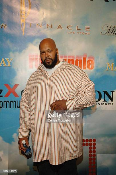Suge Knight arrives at Winky Wrights official after fight party hosted by Magic Johnson at RumJungle Nightclub on July 21 2007 in Las Vegas Nevada
