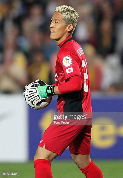 Sugeno Takanori of Kashiwa during the AFC Champions League match between the Central Coast Mariners and Kashiwa at Bluetongue Stadium on April 30...