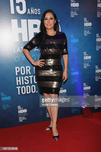 Sugey Abrego attends the HBO Latin America 15 Years celebration red carpet at Soumaya Museum on July 18 2018 in Mexico City Mexico