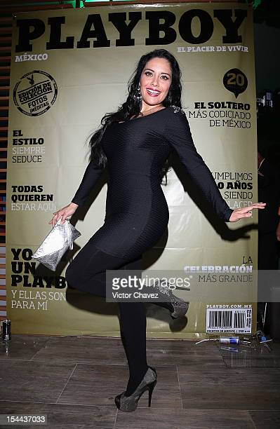 Sugey Abrego attends the Playboy Mexico magazine 10th anniversary party at Allondra interlomas on October 18 2012 in Mexico City Mexico