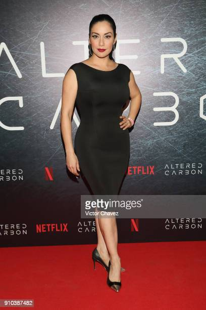 Sugey Abrego attends the premiere of Netflix's Altered Carbon at El Plaza Condesa on January 25 2018 in Mexico City Mexico