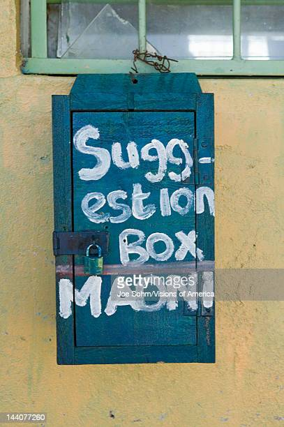 Suggestion box at Pepo La Tumaini Jangwani HIV/AIDS Community Rehabilitation Program Orphanage Clinic Pepo La Tumaini Jangwani offers hope support...