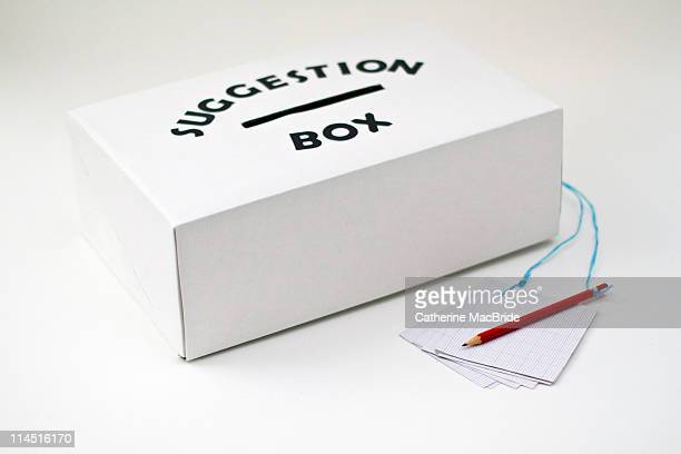 A Suggestion Box with paper and pencil