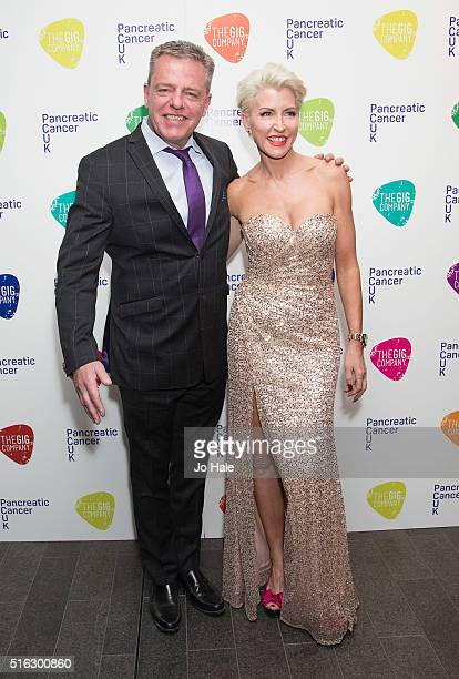Suggs and Heather Mills attend 'An Evening With Suggs And Friends' in aid of pancreatic cancer at Emirates Stadium on March 17 2016 in London England