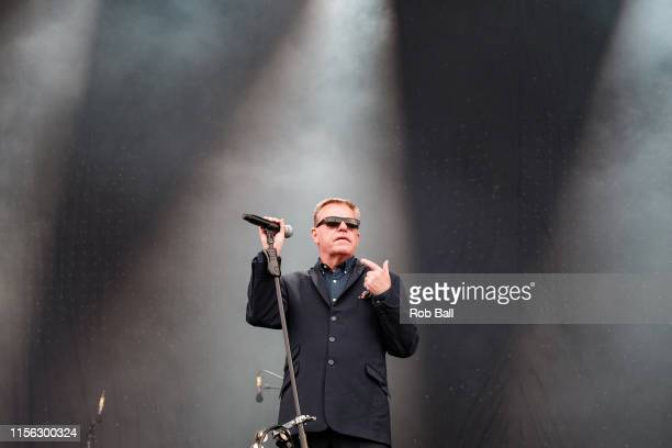 Suggs from Madness performs on stage during Isle of Wight Festival 2019 at Seaclose Park on June 16 2019 in Newport Isle of Wight