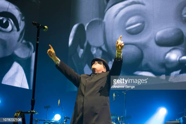 Suggs of Madness performs at First Direct Arena on December 06, 2018 in Leeds, England.