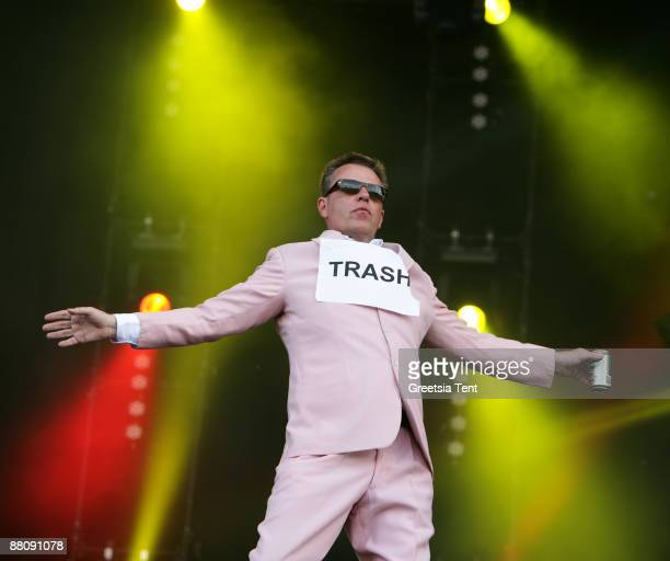 Suggs of Madness performs live on day two of the 40th Pinkpop Festival at Megaland on May 31 2009 in Landgraaf Netherlands