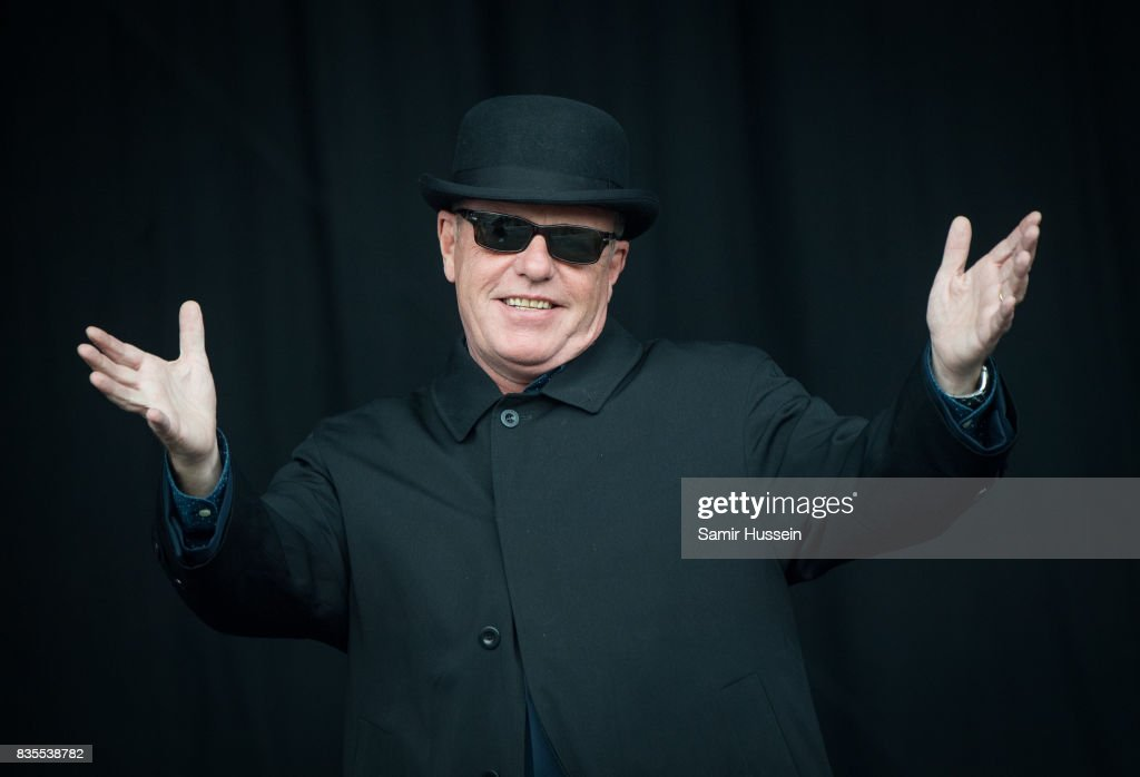 Suggs of Madness performs live on stage during V Festival 2017 at Hylands Park on August 19, 2017 in Chelmsford, England.