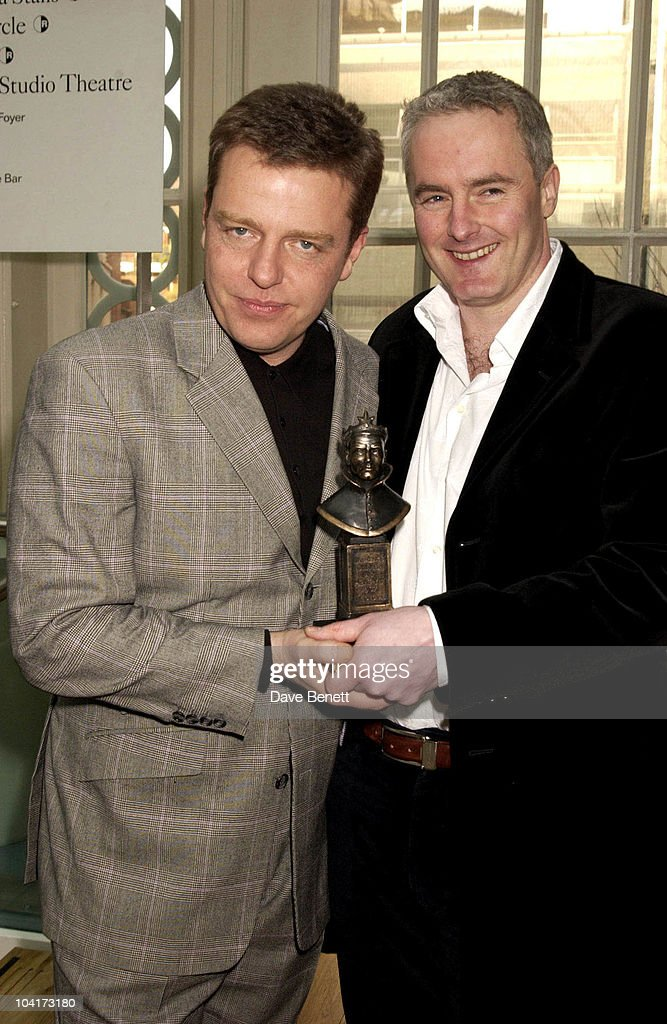 Suggs With Tim Firth (best Musical), The Laurence Olivier Theatre Awards 2003 Held At The Lyceum Theatre In London