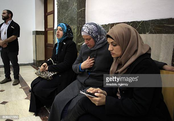 Suha the mother of Palestinian teenager Mohammed Abu Khdeir who was killed in 2014 reacts in a courtroom after the sentences were announced on...