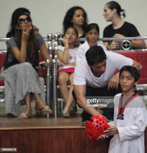 Suhana daughter of actor Shahrukh Khan displays tactics of Taekwondo at the National Tekwondo competition 2010 sponsored by Kolkata Knight Riders...