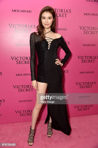 Sui He attends the 2017 Victoria's Secret Fashion Show In Shanghai After Party at MercedesBenz Arena on November 20 2017 in Shanghai China