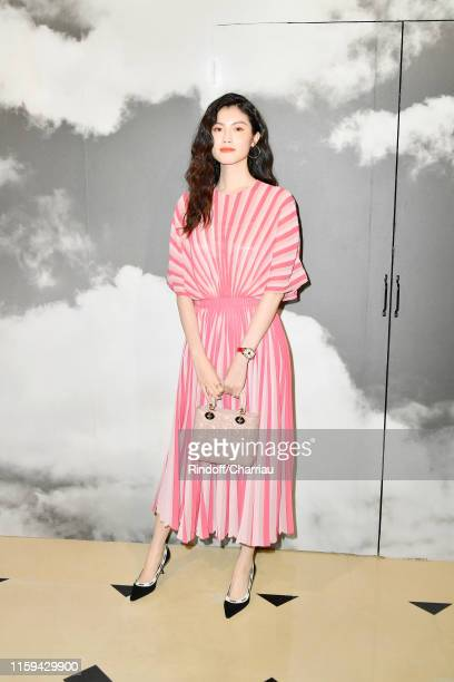 Sui He attends the Christian Dior Haute Couture Fall/Winter 2019 2020 show as part of Paris Fashion Week on July 01, 2019 in Paris, France.