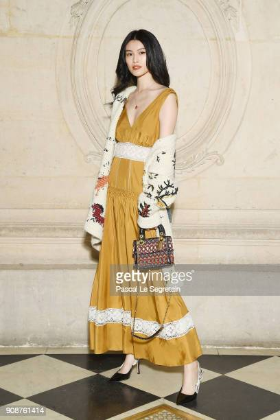 Sui He attends the Christian Dior Haute Couture Spring Summer 2018 show as part of Paris Fashion Week on January 22 2018 in Paris France