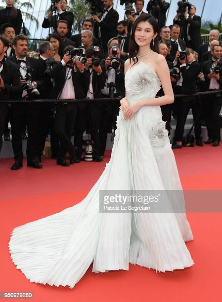 Sui He attends the screening of Sorry Angel during the 71st annual Cannes Film Festival at Palais des Festivals on May 10 2018 in Cannes France