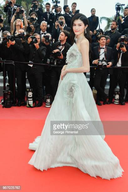 Sui He attends the screening of 'Sorry Angel ' during the 71st annual Cannes Film Festival at Palais des Festivals on May 10 2018 in Cannes France