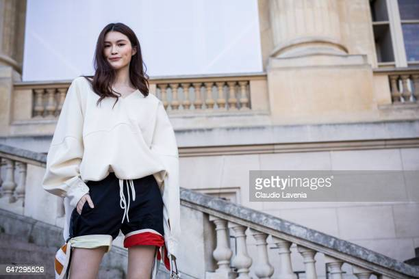 Sui He is seen before the Chloe show during Paris Fashion Week Womenswear Fall/Winter 2017/2018 on March 2 2017 in Paris France