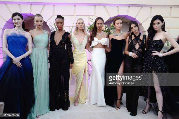 Sui He Josephine Skriver Jasmine Tookes Elsa Hosk Joan Smalls Irina Shayk Sara Sampaio and Ming Xi attend Chopard Secret Night during the 71st annual...