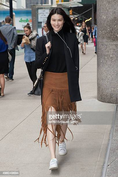 Sui He seen while leaving the Victoria's Secret headquarters on November 06 2015 in New York City