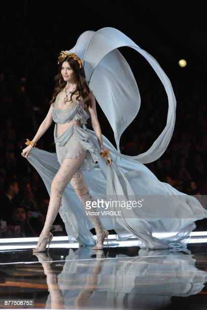 Sui He walks the runway at the 2017 Victoria's Secret Fashion Show In Shanghai Show at MercedesBenz Arena on November 20 2017 in Shanghai China